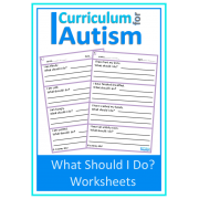 Life Skills 'What Should I Do?' Worksheets